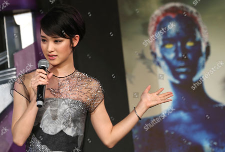 Ayame Goriki Japanese actress Ayame Goriki who does Japanese stand-in for Mystique in the Japanese version of the movie speaks during an event for the Japan Premiere of X-Men Days Of Future Past in Tokyo
