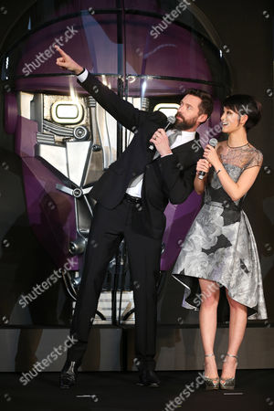 Hugh Jackman Australian actor Hugh Jackman who plays Wolverine, left, and Japanese actress Ayame Goriki, right, who does Japanese stand-in for Mystique in the Japanese version of the movie chat during an event for the Japan Premiere of X-Men Days Of Future Past in Tokyo