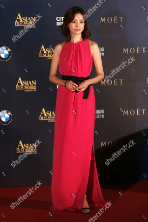Han Hyo-joo South Korea actress Han Hyo-joo poses on the red carpet of the Asian Film Awards in Macau