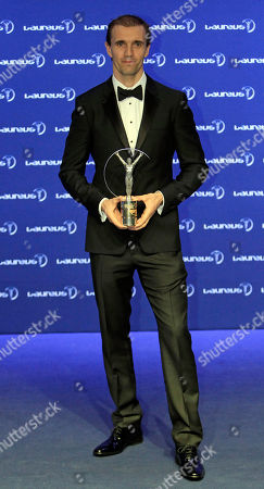 Jamie Bestwick Britain's BMX rider Jamie Bestwick displays his World Action Sportsperson of the Year trophy as he poses for photos during the Laureus World Sports Awards in Kuala Lumpur, Malaysia