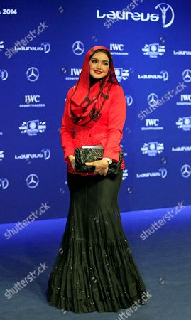Siti Nurhaliza Malaysian singer Siti Nurhaliza poses for photos upon arriving at the Laureus World Sports Awards in Kuala Lumpur, Malaysia