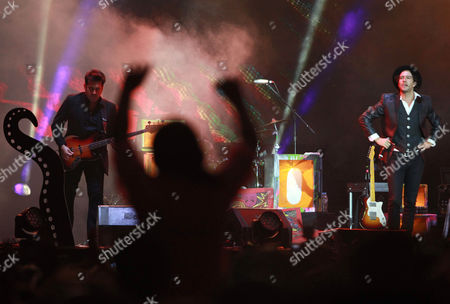 Leonardo de Lozanne Leonardo de Lozanne, right, the lead vocalist of Fobia performs during the Cumbre Tajin 2014 music festival in Papantla, Mexico