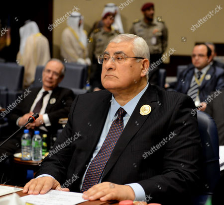 Adly Mansour Egypt's interim President Adly Mansour attends the closing session of the Arab League Summit at Bayan Palace, Kuwait on