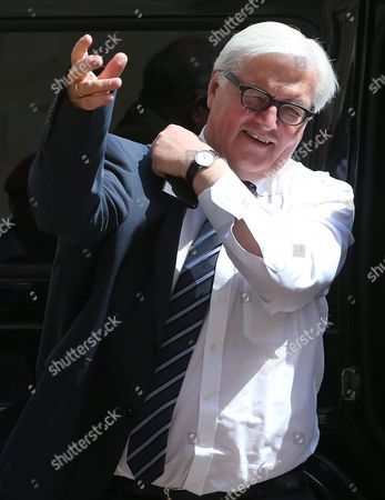 Frank-Walter Steinmeier German Foreign Minister Frank-Walter Steinmeier puts on his jacket upon his arrival at the government palace to meet with Lebanese Prime Minister Tamam Salam, in Beirut, Lebanon, . Steinmeier arrived to Lebanon Thursday for a two day visit to meet with Lebanese officials