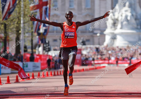 Wilson Kipsang Wilson Kipsang of Kenya celebrates his win as he crosses the finish line at the London Marathon. World-record holder Kipsang will make his New York City Marathon debut in November. The announcement, sets up a showdown with countryman Geoffrey Mutai, the two-time defending champion and course-record holder in New York
