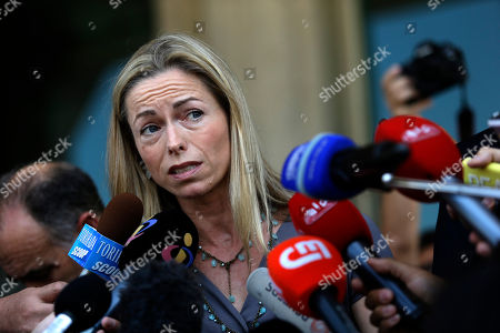 Kate McCann Kate McCann, the mother of the missing British girl Madeleine McCann, talks to journalists as she leaves with her husband a court in Lisbon . The couple arrived to Lisbon for their libel action against former Portuguese detective Goncalo Amaral who published a book about Madeleine's disappearance