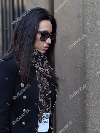 Stock Photo of Kim Myers, a friend of Reeva Steenkamp, arrives at the high court to attend the Oscar Pistorius trail in Pretoria, South Africa, . Pistorius is charged with murder for the shooting death of his girlfriend, Reeva Steenkamp, on Valentines Day in 2013