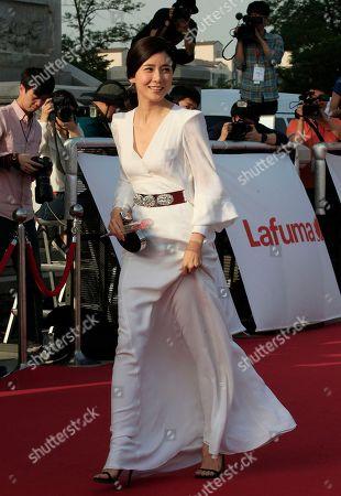 Lee Bo-young South Korean actress Lee Bo-young arrives for the 50th Baeksang Arts Awards in Seoul, South Korea