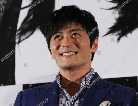 """Jang Dong-gun South Korean actor Jang Dong-gun smiles during a press conference to promote his latest movie """"No Tears for the Dead"""" in Seoul, South Korea"""
