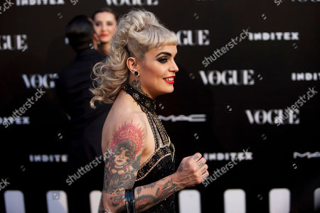 Vinila Von Bismark Spanish singer and actress Vinila Von Bismark poses for photographers during the photocall of Vogue 'Who's on Next' fashionable at Italian Embassy in Madrid, Spain on
