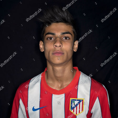 Aaron Jimenez Munoz On Atletico de Madrid supporter Aaron Jimenez Munoz, 16, from Spain poses for a picture in Madrid, Spain