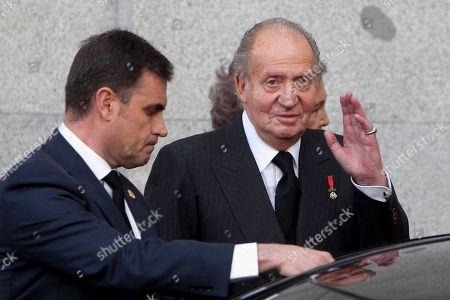 Antonio Maria Rouco Varela, King Juan Carlos of Spain King Juan Carlos of Spain, right, attends the State Funeral for Adolfo Suarez in Madrid, Spain