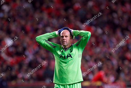 Brad Friedel Tottenham's goalkeeper Brad Friedel gestures during the Europa League, round of 16, second leg soccer match between Benfica and Tottenham at Benfica's Luz stadium, in Lisbon. Veteran American goalkeeper Brad Friedel has signed a new one-year contract with Tottenham, where he will also take up an ambassador role from next season