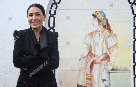 """Mexican actress Dolores Heredia poses at the premiere of the film """"Two Men in Town"""" in Algiers, . The film also stars Forest Whitaker, Harvey Keitel, Ellen Burstyn, Luis Guzman and Brenda Blethyn"""