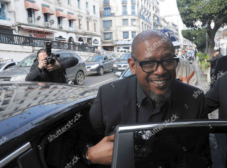 """US actor Forest Whitaker arrives for the premiere of the film """"Two Men in Town"""" in Algiers, . The film also stars Harvey Keitel, Ellen Burstyn, Dolores Heredia, Luis Guzman and Brenda Blethyn"""