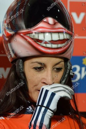 Shelley Rudman Shelley Rudman from Great Britain after the women's Skeleton World Cup race in Innsbruck, Austria, on