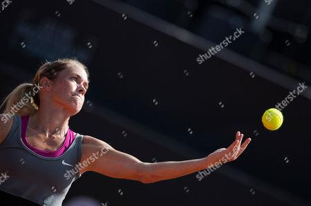 Klara Zakopalova Klara Zakopalova of the Czech Republic serves to Teliana Pereira of Brazil at the Rio Open tennis tournament in Rio de Janeiro, Brazil