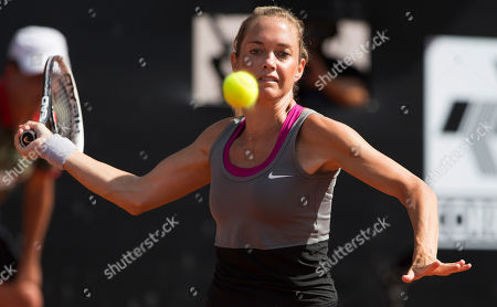 Klara Zakopalova Klara Zakopalova of the Czech Republic returns the ball to Teliana Pereira of Brazil at the Rio Open tennis tournament in Rio de Janeiro, Brazil
