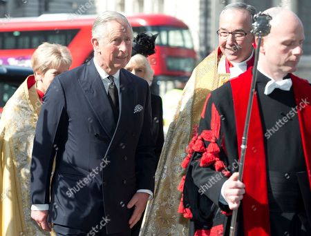 Prince Charles arrives for the Sir David Frost memorial service at Westminster Abbey in London, . British broadcaster David Frost died in August 2013, one of his most famous interviews was with President Richard Nixon