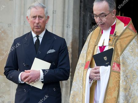 Prince Charles leaves the Sir David Frost memorial service at Westminster Abbey in London, . British broadcaster David Frost died in August 2013, one of his most famous interviews was with President Richard Nixon