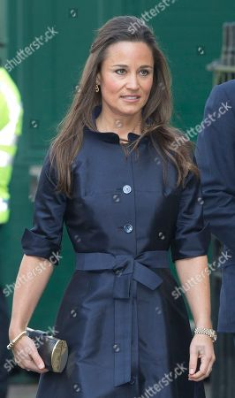 Pippa Middleton arrives for the Sir David Frost memorial service at Westminster Abbey in London, Thursday March, 13, 2014. British broadcaster David Frost died in August 2013, one of his most famous interviews was with President Richard Nixon