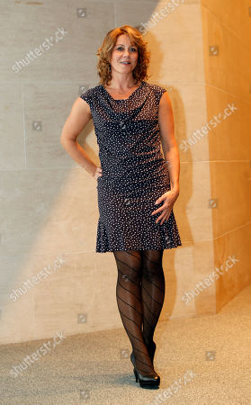 Stock Picture of Danish actress Anne Louise Hassing poses for photographers as she arrives at the screening premiere of Goltzius and the Pelican Company by British film director Peter Greenaway, in Paris