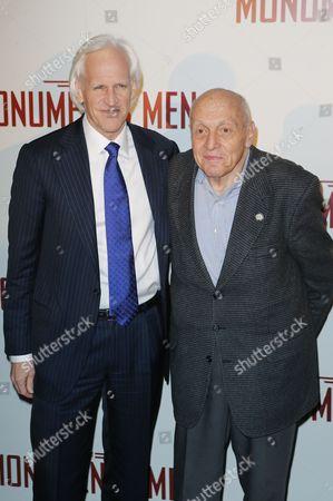 "Robert Edsel Harry Ettlinger Author Robert Edsel and Harry Ettlinger attending the French premiere of ""The Monuments Men"" - Inside Arrivals at the UGC Normandie in Paris on"
