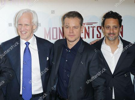 "Robert Edsel Matt Damon, Grant Heslov Author Robert Edsel, left, US actors Matt Damon, centre, and Grant Heslov attending the French premiere of ""The Monuments Men"" at the UGC Normandie in Paris on"