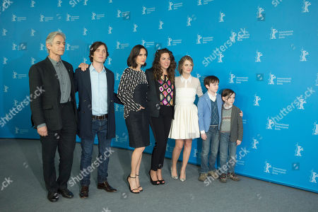 Stock Image of From left, actors William Shimell, Jennifer Connelly, Cillian Murphy and Melanie Laurent pose for photographers at the photo call for the film Aloft during the International Film Festival Berlinale in Berlin