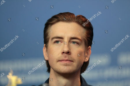 Actor Pal Sverre Hagen listens to questions at the press conference for the film In Order of Disappearance during the International Film Festival Berlinale in Berlin