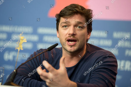 Actor Ronald Zehrfeld speaks to journalists during the press conference for the film Inbetween Worlds at the Berlinale International Film Festival in Berlin
