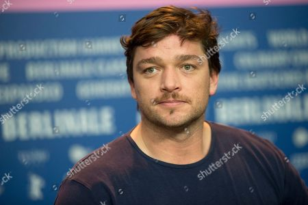Actor Ronald Zehrfeld listens to journalists questions during the press conference for the film Inbetween Worlds at the Berlinale International Film Festival in Berlin