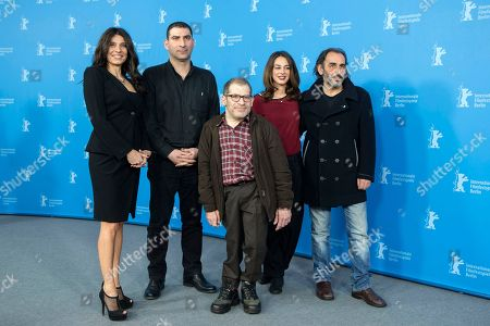 Popi Tsapanidou, Yannis Economides, Petros Zervos, Vicky Papadopoulou, Vangelis Mourikis From left, actress Popi Tsapanidou, director Yannis Economides, actors Petros Zervos, Vicky Papadopoulou and Vangelis Mourikis pose for photographers at the photo call for the film Stratos during the 64th Berlinale International Film Festival, in Berlin