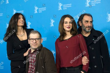Popi Tsapanidou, Petros Zervos, Vicky Papadopoulou and Vangelis Mourikis From left, actors Popi Tsapanidou, Petros Zervos, Vicky Papadopoulou and Vangelis Mourikis pose for photographers at the photo call for the film Stratos during the 64th Berlinale International Film Festival, in Berlin