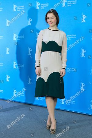 Actress Henriette Confurius poses for photographers at the photo call for the film The Beloved Sisters during the 64th Berlinale International Film Festival,, in Berlin