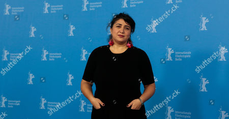 Director Sudabeh Mortezai poses for photographers at the photo call for the film Macondo during the International Film Festival Berlinale in Berlin