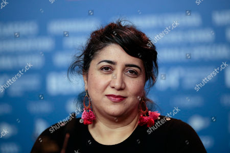 Director Sudabeh Mortezai attends a news conference for the film Macondo during the International Film Festival Berlinale in Berlin