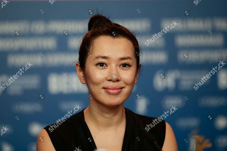 Actress Yu Nan attends a press conference for the Film No Man's Land during the International Film Festival Berlinale in Berlin