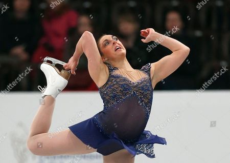 Great Britain's Jenna McCorkell performs during the women's short program at the European Figure Skating Championships in Budapest, Hungary