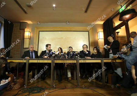 Stephanie Kercher, Lyle Kercher Meredith Kercher's sister Stephanie, center left, and brother Lyle center right, talk during a press conference in Florence, Italy, the day after an appeals court sentenced Amanda Knox to 28 ½ years in prison and her former boyfriend Raffaele Sollecito to 25 years for the 2007 murdering of Meredith Kercher in Perugia, central Italy. For Kercher's family, the verdict was another step in what has been more than six years of uncertainty about how Meredith died and finding justice
