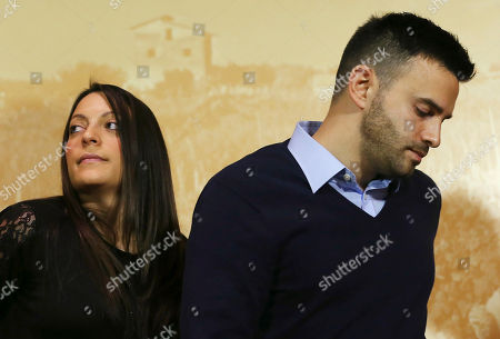 """Stock Photo of Stephanie Kercher, Lyle Kercher Meredith Kercher's sister Stephanie, left, and brother Lyle, arrive for a press conference in Florence, Italy, the day after an appeals court sentenced Amanda Knox to 28 ½ years in prison and her former boyfriend Raffaele Sollecito to 25 years for the 2007 murdering of Meredith Kercher in Perugia, central Italy. For Kercher's family, the verdict was another step in what has been more than six years of uncertainty about how Meredith died and finding justice. """"I think we are still on the journey of the truth and it may be the fact that we don't ever really know what happened that night, which will be something we have to come to terms with,"""" said Stephanie Kercher"""