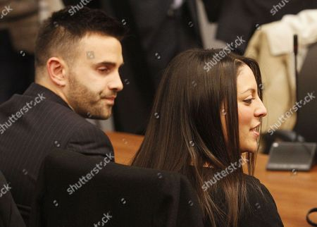 Lyle Kercher, Stephanie Kercher Meredith Kercher's brother Lyle, left, and sister Stephanie wait for the reading of the verdict for the murder of the British student in Florence, Italy, . An appeals court in Florence upheld the convictions of U.S. student Amanda Knox and her ex-boyfriend for the 2007 murder of her British roommate. Knox was sentenced to 28 1/2 years in prison, raising the specter of a long legal battle over her extradition. After nearly 12 hours of deliberation Thursday the court reinstated the guilty verdict first handed down against Knox and Raffaele Sollecito in 2009