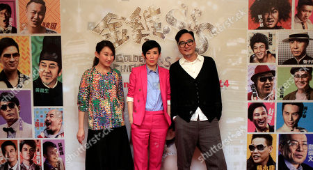 """Sandra Ng, Ivana Wong, Matt Chow From left, Hong Kong actresses Ivana Wong, Sandra Ng and Hong Kong director Matt Chow pose for photographers during a press conference to promote their new film """"Golden Chicken SSS"""" in Petaling Jaya, near Kuala Lumpur, Malaysia"""