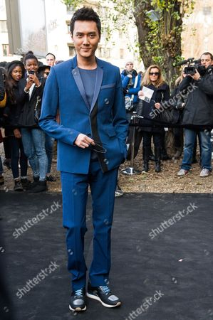 Feng Shaofeng Chinese actor Feng Shaofeng arrives to attend the Dior men's Fall-Winter 2014-2015 fashion collection, presented in Paris