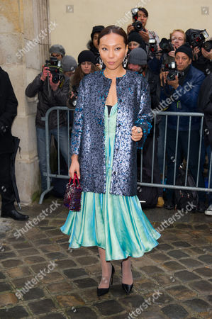 Bao Bao Wan Chinese jewelry designer Bao Bao Wan arrives to attend the Dior Spring-Summer 2014 Haute Couture fashion collection, presented in Paris