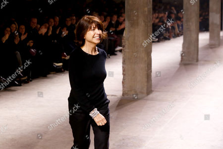 Veronique Nichanian Fashion designer Veronique Nichanian acknowledges applause following the presentation of the men's Fall-Winter 2014-2015 fashion collection she designed for Hermes, in Paris