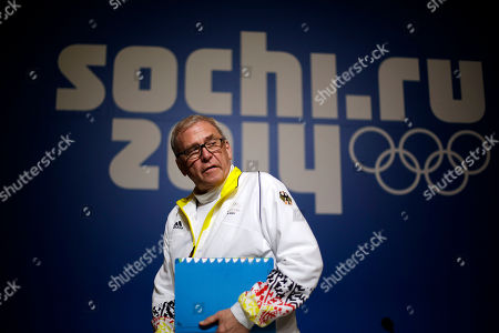 """Michael Vesper Michael Vesper, director general of the German Olympic Sports Confederation, leaves a press conference in response to a top German biathlete testing positive for doping at the 2014 Winter Olympics, in Sochi, Russia. Former two-time Olympic gold medalist Evi Sachenbacher-Stehle tested positive for the stimulant methylhexanamine in both her """"A'' and """"B'' samples, the German Olympic Committee said"""