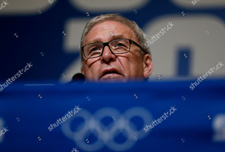 """Michael Vesper Michael Vesper, director general of the German Olympic Sports Confederation, speaks at a press conference in response to a top German biathlete testing positive for doping at the 2014 Winter Olympics, in Sochi, Russia. Former two-time Olympic gold medalist Evi Sachenbacher-Stehle tested positive for the stimulant methylhexanamine in both her """"A'' and """"B'' samples, the German Olympic Committee said"""