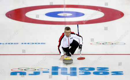 Craig Brown Craig Brown, an alternate on Team USA, delivers the stone during a men's curling training session the 2014 Winter Olympics, in Sochi, Russia