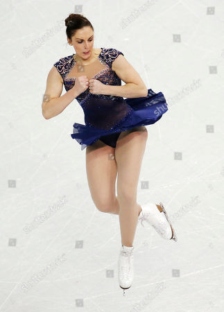 Jenna McCorkell of Britain competes in the women's team short program figure skating competition at the Iceberg Skating Palace during the 2014 Winter Olympics, in Sochi, Russia